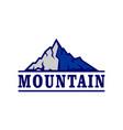 mountain abstract graphic logo icon vector image vector image