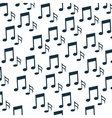 music notes pattern background vector image vector image