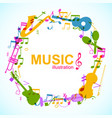 music round composition vector image vector image