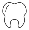outline tooth icon health vector image vector image