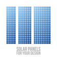 Photovoltaic electric solar panel patterns set