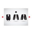 posh suit selection vector image vector image