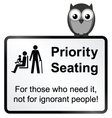 Priority Seating vector image vector image