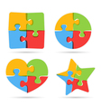 Puzzle Objects vector image vector image