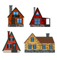 residential houses icons in trending flat style vector image vector image
