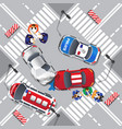 road accident vector image vector image