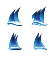 sailboat logo set vector image