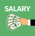 salary motivation poster vector image vector image