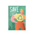 save the earth poster banner advertising flyer vector image vector image