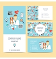 Set of flyer brochure and business cards for vet vector image vector image