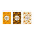 set seamless pattern and labels for cheese vector image vector image
