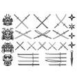 set weapon samurai and ninja design vector image