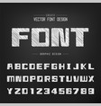 sketch bold font and alphabet chalk square vector image vector image