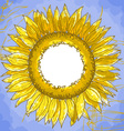 square frame with sunflowers vector image vector image