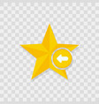 star icon arrow left icon vector image vector image
