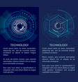 technology poster with bright interface shapes vector image vector image