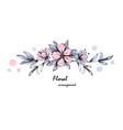 tender floral arrangement pink apple tree flowers vector image vector image
