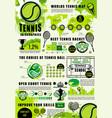 tennis infographics sport games statistics vector image vector image