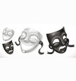 theatrical masks comedy and tragedy 3d icon vector image vector image