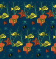 underwater sea life seamless pattern vector image vector image