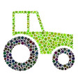 wheeled tractor collage of circles vector image