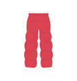 winter blown pants in flat vector image vector image