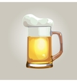beer mug isolated on a light background vector image