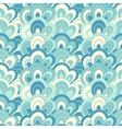 doodle hand drawn seamless floral pattern vector image