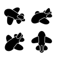 Airplane Icons Set vector image