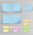 office sticky stickers vector image