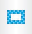 blue heart frame card background vector image