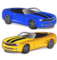 yellow and blue sport car without top vector image