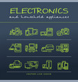 a collection of electronics and home appliance vector image