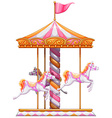 A colourful merry-go-round vector image vector image