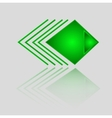 Abstract Geometric Green Triangle Pattern vector image vector image