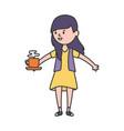 avatar woman person design vector image