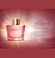 awesome perfume essence advertisement concept vector image