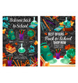 back to school autumn sale offer posters vector image vector image