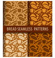 bakery seamless patterns vector image vector image