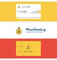 beautiful christmas balls logo and business card vector image vector image