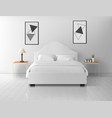 bedroom interior home or hotel empty apartment vector image vector image