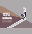 business solution or exit strategy infographic vector image vector image