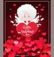 card to the day of the holy valentine lettering vector image