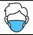 character wearing facial mask quarantine vector image