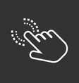 click hand icon cursor finger sign flat on black vector image vector image