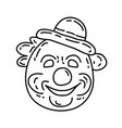 clown icon doddle hand drawn or black outline vector image vector image