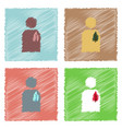collection of flat shading style icons silhouette vector image vector image