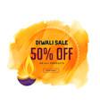 creative diwali sale banner with diya and vector image vector image