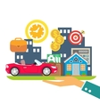 credit leasing mortgage vector image
