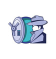 cyber security agent with safe box vector image vector image
